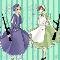 Dresses and Guns by BlackDiamond13