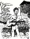 Woody Guthrie Gets Bad News by oh-the-humanatee