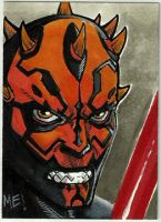 Darth Maul ACEO sketch card by MasonEasley