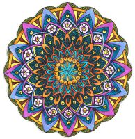 Coloured Version of Mandala 24 June 2014 by Artwyrd