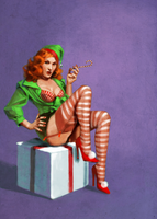 Santa's Helper Pin-up by mollygrue