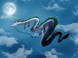 Spirited Away - Haku Fan Art by TacoSauceNinja