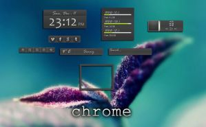 rainmeter gray chrome by tochpcru
