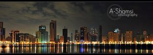 Sharjah City at night by A-Shamsi