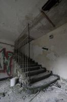 Abandoned Exploration - Staircase by SheriArts