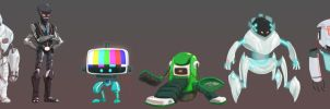 Robots designs by Andry-Shango