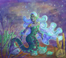 Slug Mermaid by Jellyfishbubblez