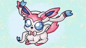 Sylveon is the cutes. (Art trade) by GGproductions