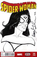 Spider-Woman sketch cover by mechangel2002