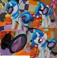 Vinyl Scratch DJ PON3 Plushie for Ponycon Au 2014 by SnuggleFactory