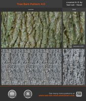 Tree Bark Pattern 4.0 by Sed-rah-Stock