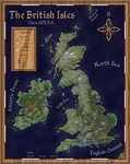 Post-Apocalyptic British Isles (Political Map) by FeroceFV