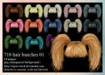 718 Hair Bunches 01 by Tigers-stock