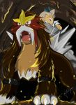 Pokemon Entei and Molly by julesvampire