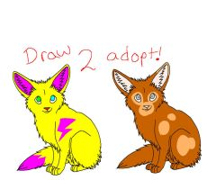 DRAW TO ADOPT FENNEC FOXES! CLOSED by GalaxyGoats