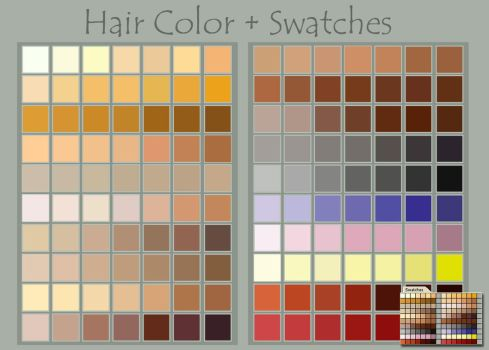 Hair Color + Swatches by DeviantNep