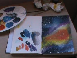 Traditional art practice - paints and backgrounds by inesmarques2011