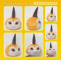 Tsunomon Plush from Digimon::::: by Witchiko