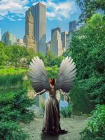 Angel of Central Park by bentolosa