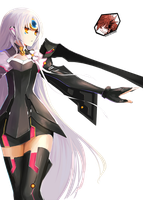 Elsword render of Eve Code Nemesis by OneExisting