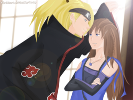 AT: Come a little closer - Deidara x Akina by Hatake-Flor