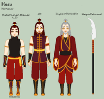 A:tLA/LoK - Kesu Reference Sheet by porcelian-doll