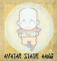 Avatar State Air Aang by rabidcyrus