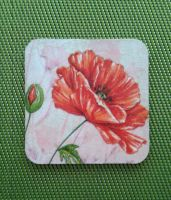 Decoupage cap cup with flower by SteamJo