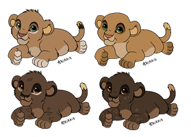 SIBLING LION ADOPTABLES {closed} by LionsoftheGrasses