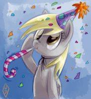 Happy Birthday Derpy by WhiteDiamondsLtd