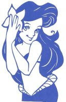 Loishs Ariel As A Papercut by usagisailormoon20