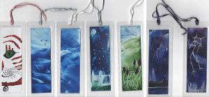 Encaustic Bookmarks by wolfysilver