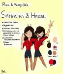 Samantha and Hazel: Rick and Morty OCs Ref Sheet by LoveAnimals8