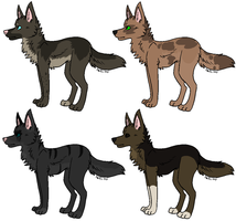 Wolf Adoptables - ONE LEFT by Mitigate