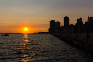 NYC Sunset by kriegs