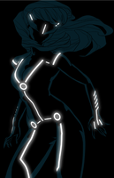 Black cat tron by anklesnsocks