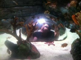 Zak at the aqaurium by MJandGhostAdventures