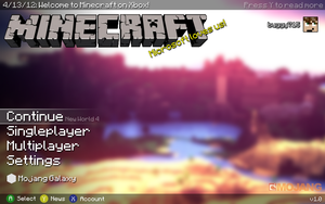 New Minecraft Xbox Live Arcade Main Menu Concept by buggy715