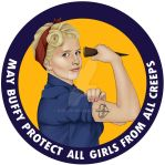 Buffy, the Riveter. May Buffy protect you by Ruru-W