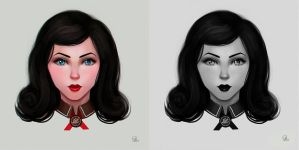 fan art Elizabeth BioShock Infinite: Burial at Sea by kefirchik