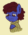 sad horse boob sweater by SandwichDelta