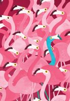 Flamingoes by BigFace