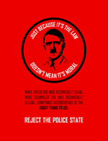 Reject The Police State by brandtcampbell
