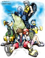 Kingdom Hearts - coloured by Amarevia