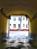 View through the arch of the city by TatianaToutheou