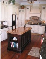 Custom Kitchen Island and Hood by MitchMitton