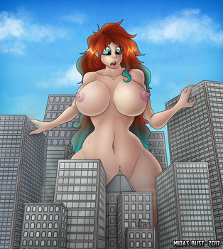 Red-Headed Giantess by Midas-Bust