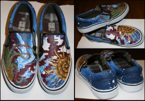 Painted Vans by MT-y