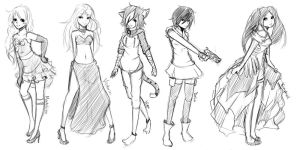 :R+AT: Mini Full-Body Sketches by whitty-boo
