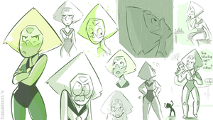 Peridot Scribbles by blargberries